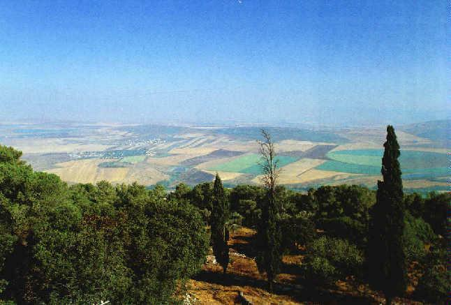 A view from the summit of Mount Tabor with the Valley of Jezreel, the site of endtime prophecies (Zion Ministries)